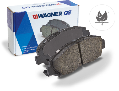 package view of quickstop brake pads by wagner