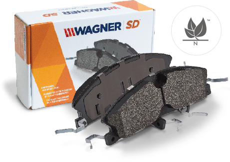 view of package of severeduty brake pad by wagner